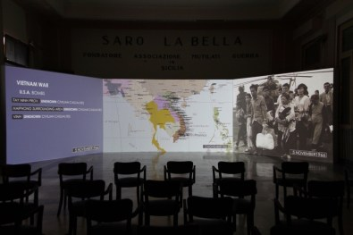 "Cristina Lucas, Unending Lightning, 2015 – ongoing, video installation, duration variable, project ""Out of Control Room"", Casa del Mutilato, Palermo Photo: Wolfgang Träger Photo Courtesy: the artist"
