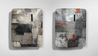 Andrea Cereda, Senza titolo, 2018, lamiera e tondino di ferro, cm. 31x37x12 cad.