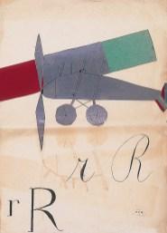 Bruno Munari, 'rRrR' (Rumore di aeroplano) (1927 c.) (Copia)