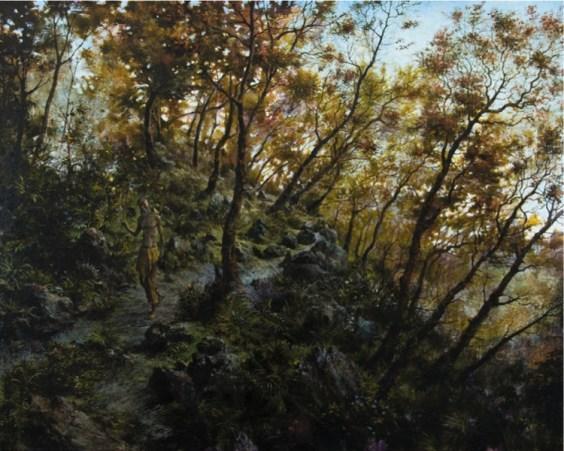 Francesco De Grandi, San Giovanni fra le piante sacre, 2018, olio su tela, 120x150 cm Courtesy Rizzuto Gallery, Palermo