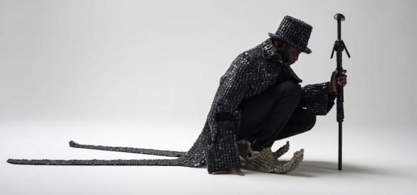 Maurice Mbikayi, Black Knight Dandy, 2017, C-Print, 100x150 cm Courtesy Officine dell'Immagine, Milano