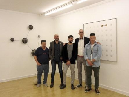 Vernissage - Da sinistra Ivano Bonioni, Andrea Cereda, Alessandro Costanzo, Matteo Galbiati, Federico Bonioni