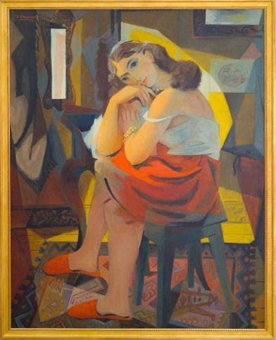 Théodore Strawinsky, Giovane donna, 1944-1954, olio su tela, 146x114 cm, Fondazione T. Strawinsky