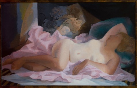 Théodore Strawinsky, Nudo disteso, 1950, olio su tela, 81x130 cm, Fondazione T. Strawinsky