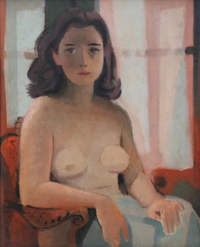 Théodore Strawinsky, La modella, 1948, olio su pavatex, 41x33 cm, Fondazione T. Strawinsky