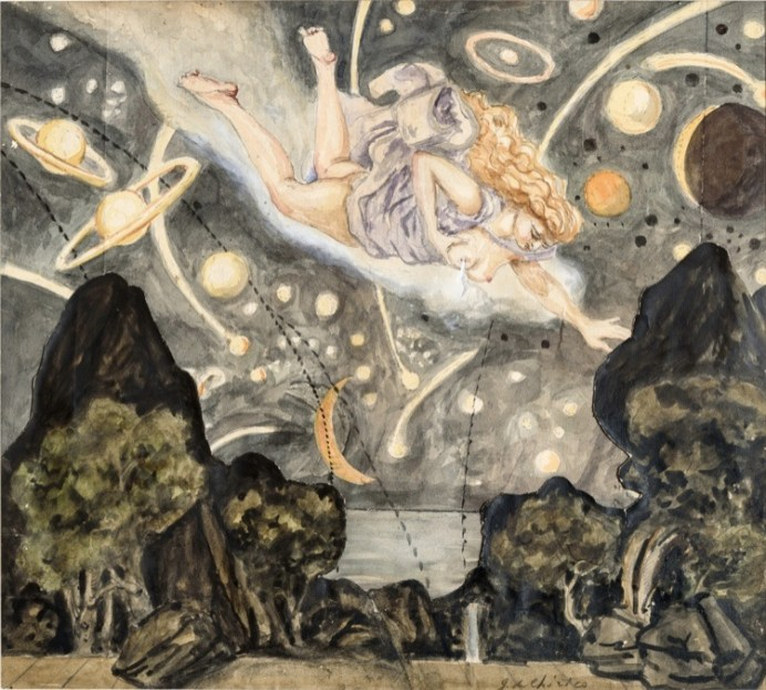Giorgio de Chirico, L'origine della Via Lattea, 1942, Collezione privata
