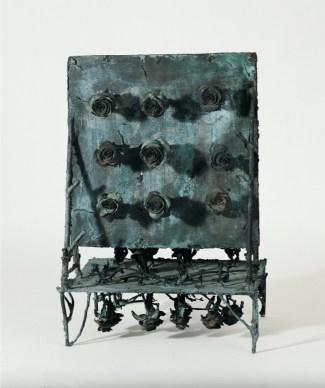 Alik Cavaliere, La rosa, le rose, 1965, bronzo, cm 78x54x39