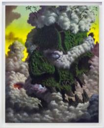 Fulvio Di Piazza, Green God, 2014, olio su tela, 100 x 80 cm
