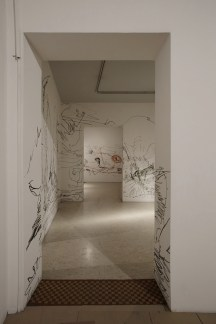 Gabriella Ciancimino, Inner Jungle, 2018, site specific wall painting, acrylics on walls (In Liberty We Trust, view of the show, 2018, Palazzo Ziino, Palermo) Photo by Fausto Brigantino - Azoto projects & communication