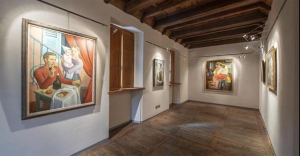 Théodore Strawinsky. La trasfigurazione poetica, veduta della mostra, Casa De Rodis - Collezione Poscio, Domodossola (VB)