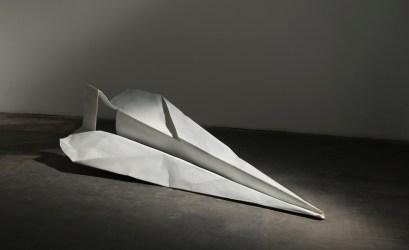 Fabio Viale, Aereo, 2015, white marble, 75x200x95 cm