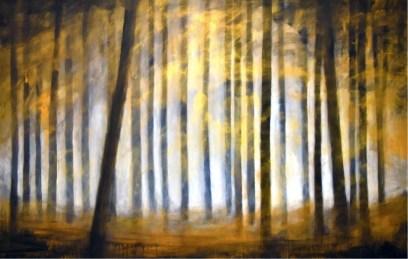 Ernesto Morales, Forest III, 2018, oil on canvas, cm 100x150 Courtesy l'artista e Area35 Art Gallery, Milano