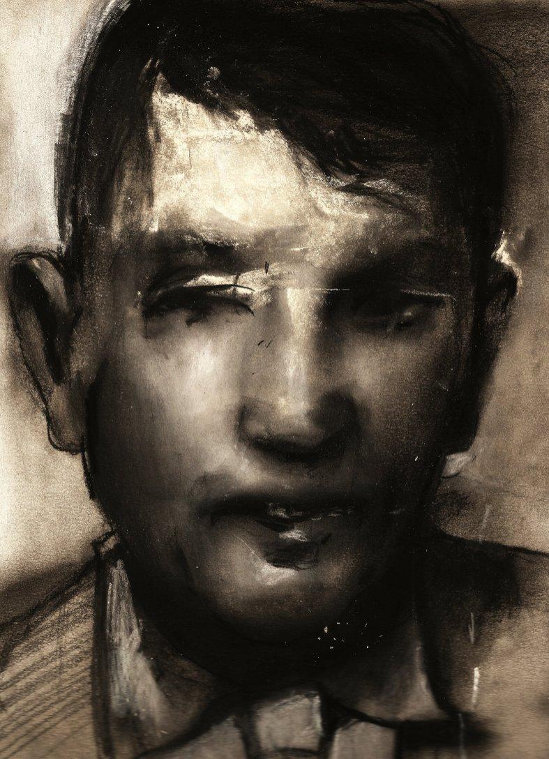 RICCARDO CAVALLINI senza titolo, carboncino e pastelli su carta , 2018, 21x30 cm