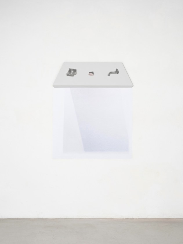 Stefano Spera, GAP, Reina Sofia, 2018, olio su tavola, cm 70x22 e stampa su pellicola adesiva Courtesy Villa Contemporanea, Monza Foto Cosimo Filippini, 2018