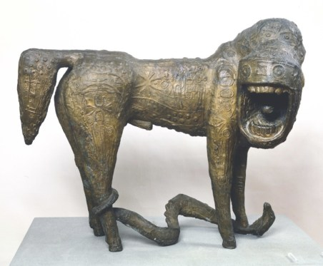 Mirko Basaldella, Leone urlante, 1956, bronzo, 76.5x95x44 cm, GAM – Galleria Civica d'Arte Moderna e Contemporanea, Torino Acquisto Afro Basaldella, 1971, Roma
