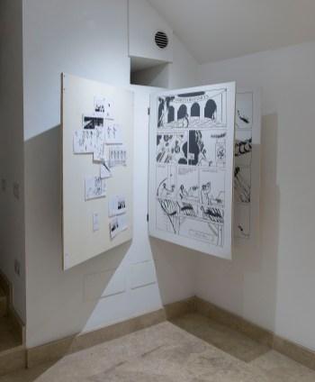 Alex Bodea, In the making, site specific installation 2018