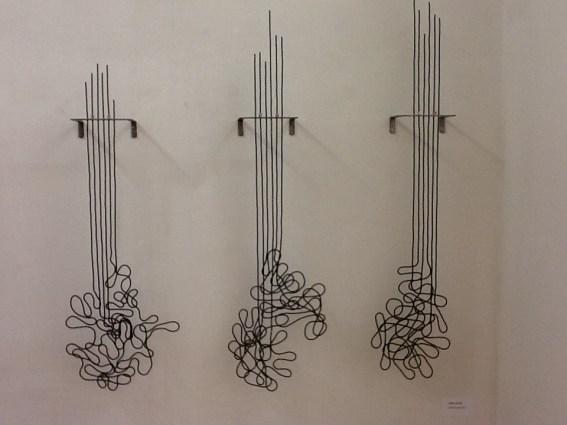 """Andrea Marini, """"Grafie"""", ferro, smalto, acrilico, 2018. Courtesy Die Mauer arte contemporanea"""