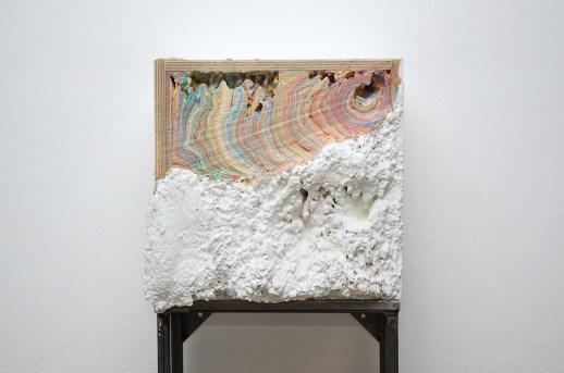Diego Soldà, Archivio, 2015, tempera a strati su struttura in legno, 40x40x20 cm