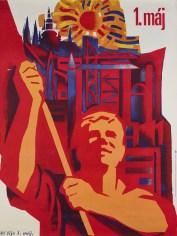 Z. Filip, Alla vitalità del 1° Maggio, 1975, stampa su carta