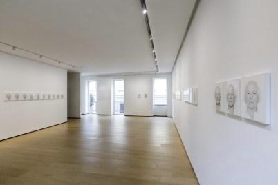 Roman Opalka. Dire il tempo (Capitolo 1 - Roman Opalka, una retrospettiva) veduta della mostra, BUILDING, Milano © Roberto Marossi. Courtesy BUILDING