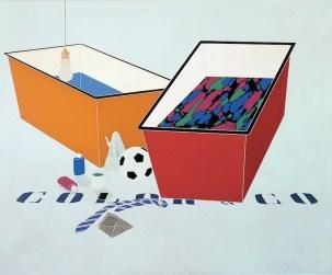 Emilio Tadini, Color & Co., 1969, acrilici su tela, 200x240 cm, Collezione privata Courtesy Fondazione Marconi, Milano