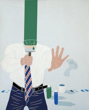Emilio Tadini, Color & Co. n. 5, 1969, acrilici su tela, 100x81 cm, Collezione privata Courtesy Fondazione Marconi, Milano
