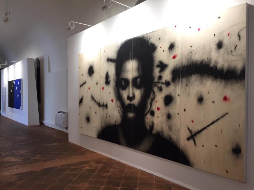 Omar Galliani. Leonardesca, veduta della mostra
