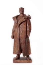 Anonimo, Senza titolo, primi anni '50, gesso policromo, h 122 cm, Collezione Fondazione Eleutheria