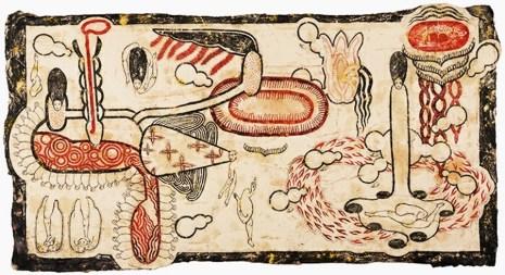 Simone Pellegrini, Golfo Dei Flutti, 80x160 cm., tecnica mista su carta da spolvero, 2016