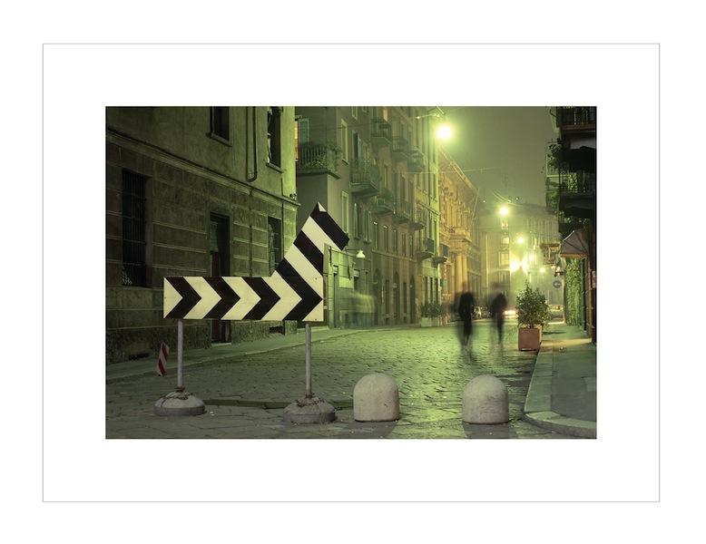 """Francesco Garbelli, """"Operazione Zebra"""", 1989/2014. stampa su carta baritata, cm 40x59 con passepartout fotografico cm 55x74"""