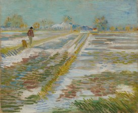Vincent van Gogh, Paesaggio innevato (Paysage enneigé), Arles, febbraio, 1888, olio su tela, 38.3×46.2 cm, Solomon R. Guggenheim Museum, New York Thannhauser Collection, Gift, Hilde Thannhauser 84.3239 © Solomon R. Guggenheim Foundation, New York (SRGF)