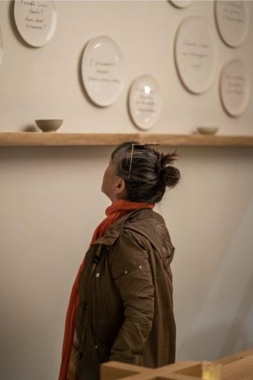 Marco Andrea Magni, Oggi sono proprio contento di stare al mondo, veduta della mostra, Zazà Ramen, Milano, 2019 Foto Stefano Mascolo Corbacio