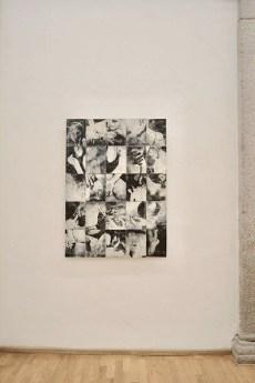 Silvia Celeste Calcagno, Il Pasto Bianco, 2019, stampa monocromatica su gres, 130x95 cm Courtesy Nuova Galleria Morone, Milano