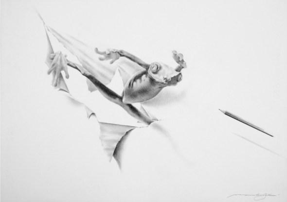 Massimiliano Gallliani, Attraverso 12, 2018, matita su carta Fabriano, cm 50x70