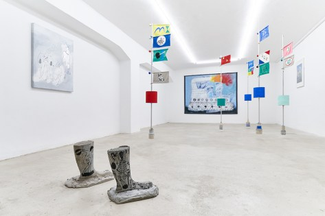 S/S/P, Roberto Alfano e Oliviero Fiorenzi, installation view, The Address, Brescia Courtesy The Address