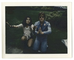 Jonas Mekas, Dumpling Party, 1971, vintage polaroid, 43x28 cm Courtesy APALAZZOGALLERY