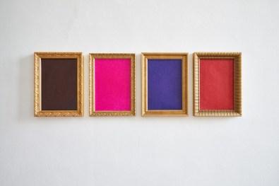 Serena Fineschi, Ingannare l'attesa (Nero Malevic, Rosa Tiepolo, Blu Mondrian, Rosso Tiziano), 2020, bic cristal su carta