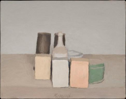 Giorgio Morandi, Natura morta, 1956, olio su tela, 36x45.7 cm, Collezione Mattioli Rossi