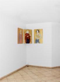 Filippo Riniolo. Dell'eroina e dell'Incenso, veduta della mostra, Traffic Gallery, Bergamo Courtesy Traffic Gallery, 2020 Photo Zoe Rigante