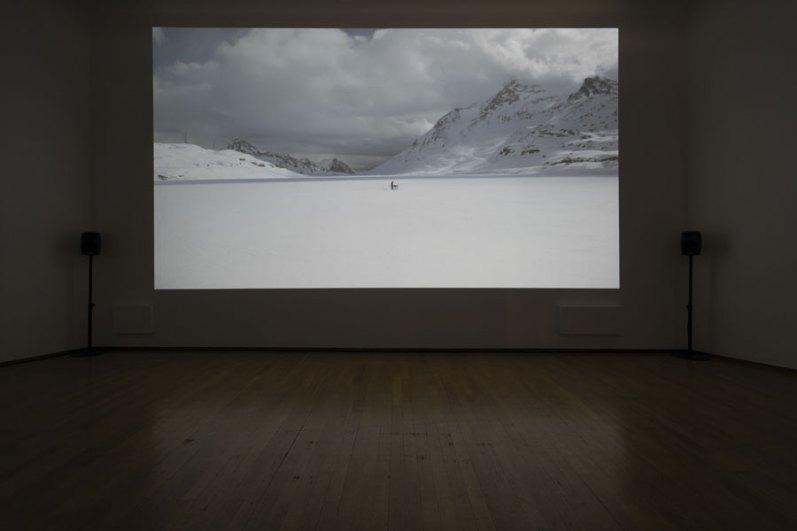 Barbara and Ale, The sky is falling, veduta della mostra Made of Sound (Performing PAC), PAC - Padiglione d'Arte Contemporanea, Milano, 2020 Photo by Claudia Capelli