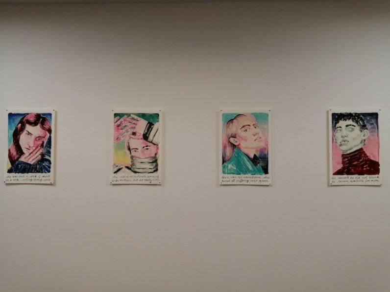 Marion Fink. Another level of assumption, veduta della mostra, Studio d'Arte Cannaviello, Milano