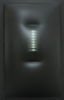 Paolo Radi, Sprofonda nell'ombra, 2017, estroflessione, perspex, acrilico e pvc, cm 98X63
