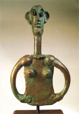 André Derain, Femme au long cou, post 1938, bronzo, 32x19.5x4 cm, Collezione privata, Montagnola © 2020, ProLitteris, Zurich