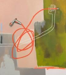Sophie Ullrich, o.T. (bewässerung), 2021, olio su tela, 170x150 cm