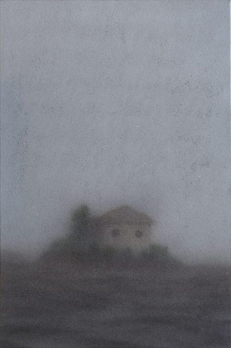 Edoardo Cialfi, Rudere, aerosol su tela, 90 x 60 cm, 2021