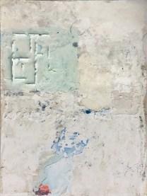 Franco Guerzoni, GUETM0656, Paesaggi in polvere, 2017, tecnica mista su tavola, cm 88x66. Courtesy Marcorossi Arte Contemporanea