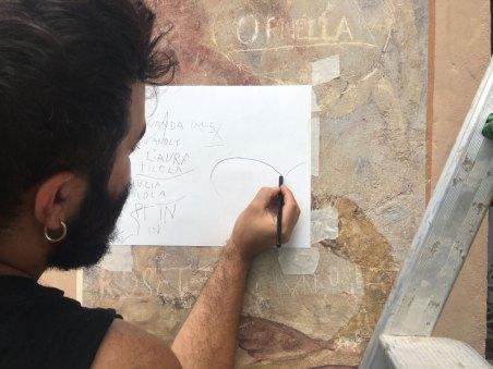 Alessio Barchitta, Backstage falía* 2021 | Courtesy Associazione falía*