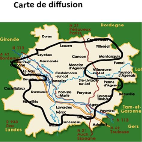 carte de diffusion
