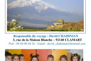 Voyage humanitaire et touristique en Arménie A l'occasion des 30 ans de l'Association