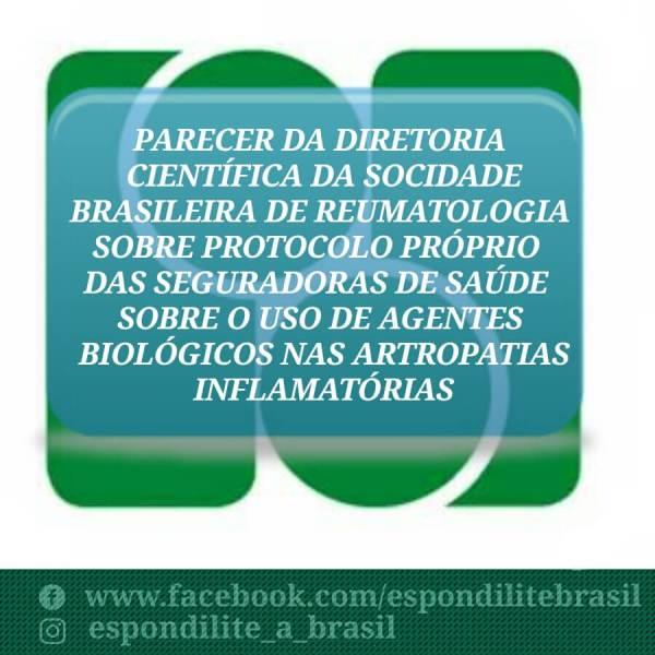 Pronunciamento da Sociedade Brasileira de Reumatologia